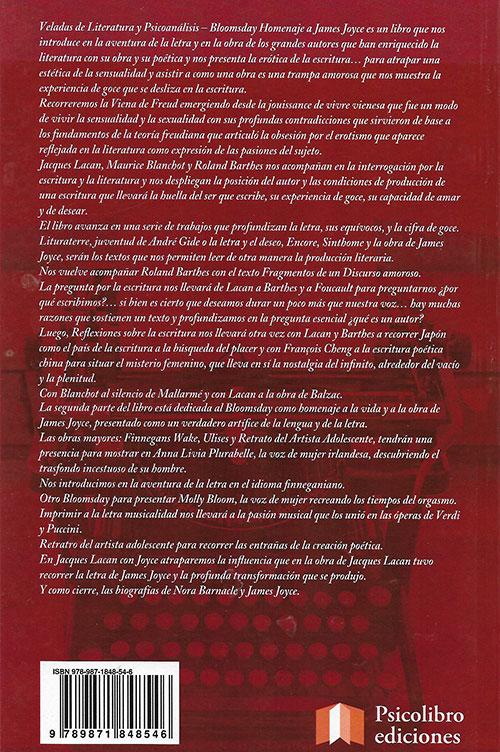 Libro Bloomsday - Homenaje A James Joice - ContraTapa