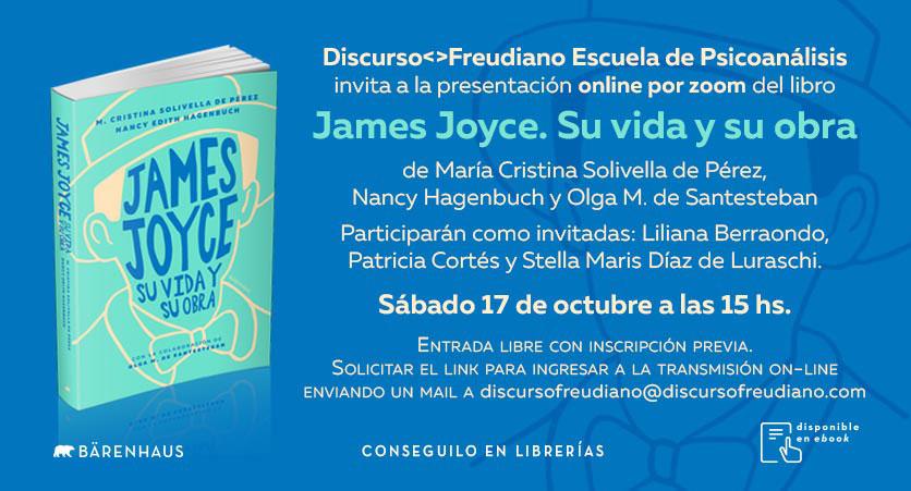 Lanzamiento Libro James Joyce - Discurso Freudiano