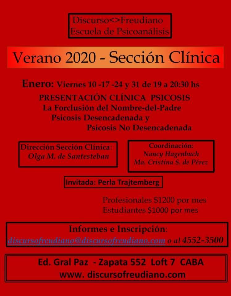 Verano 2020 - Sección Clínica